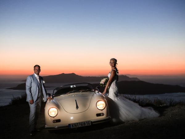 Royal rustic chic wedding in Santorini